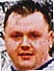 Levi Bellfield in June 1996 shortly before the Chillenden Murders at 28 years old. Notice particularly the 'chubby cheeks' and 'spikey' hair.